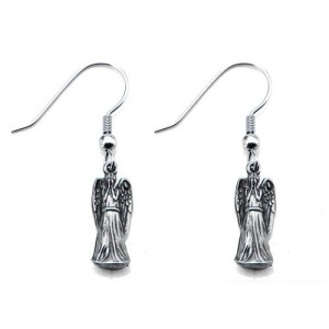 weeping angel earrings