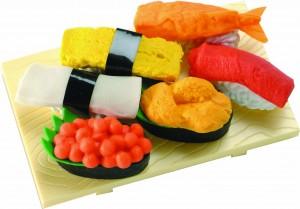 sushi erasers