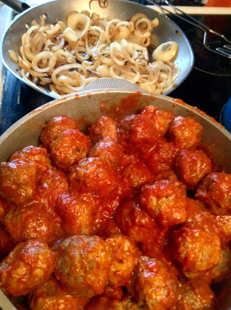 food blog meatballs and onions
