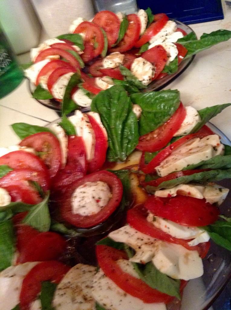 food blog caprese salad
