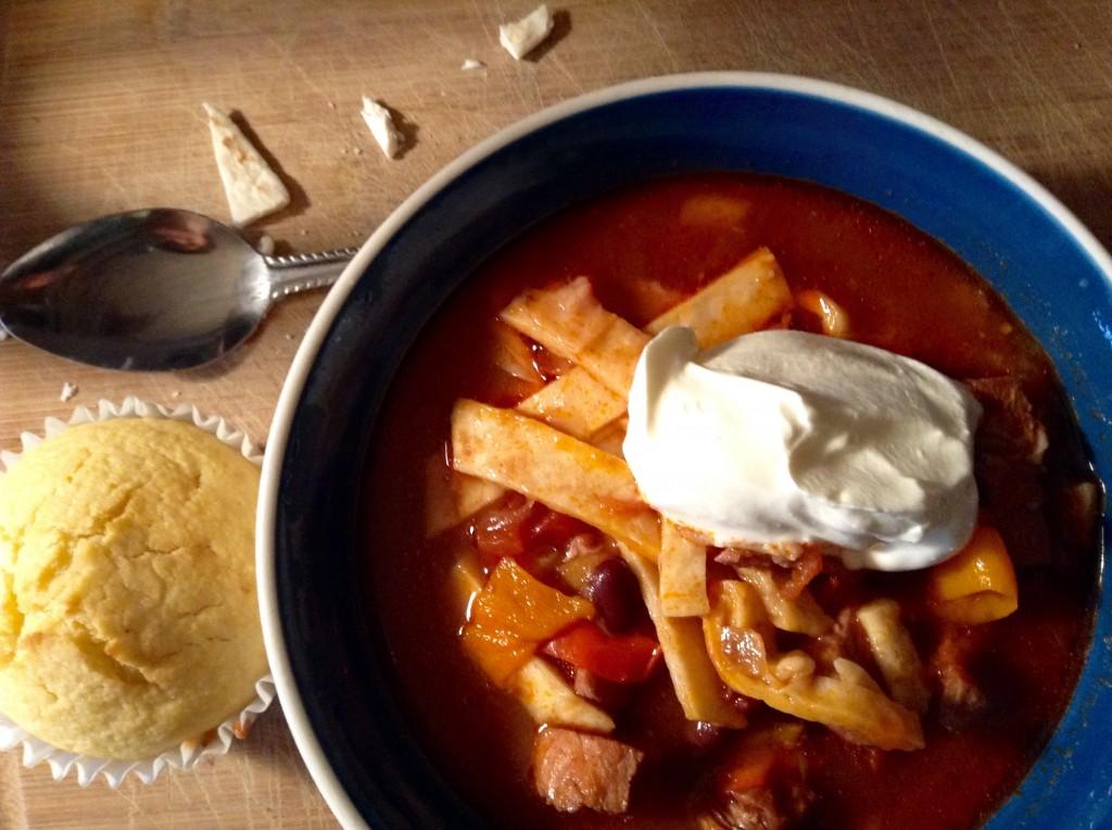 food blog tortilla soup