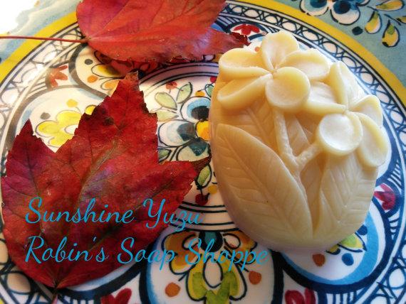 soap yuzu flowers