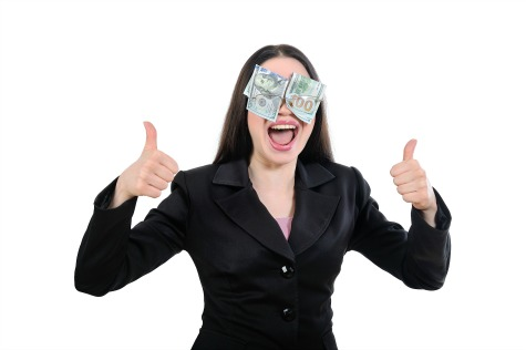 Girl blinded by greed, money, profit