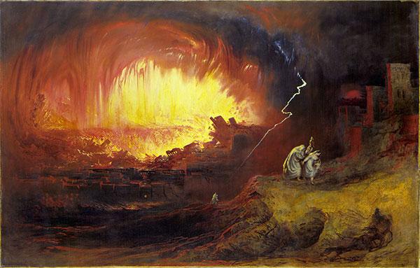 The Destruction Of Sodom And Gomorrah, John Martin, 1852, public domain