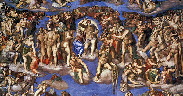 detail from The Last Judgment by Michelangelo (1541)