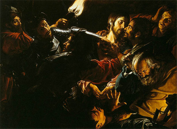 Taking of Christ with the Malchus episode,  Gerard Douffet, 1620.