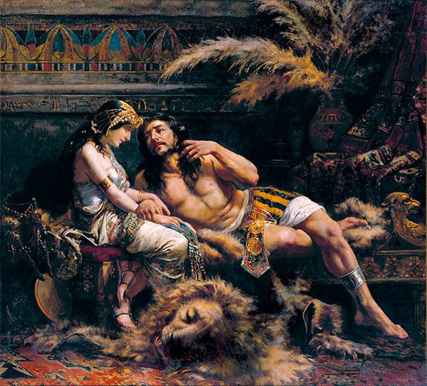 Samson and Delilah, José Echenagusía, 1887