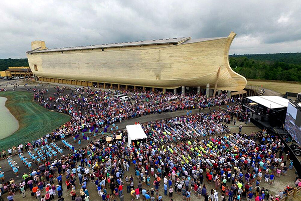 Ark Encounter ribbon cutting ceremony, July 5, 2016. Photo courtesy of Answers in Genesis.