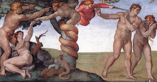 Detail from the Sistine Chapel by Michelangelo, via wikimedia.org