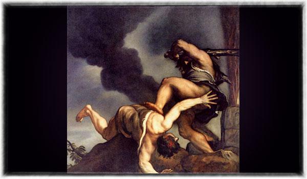 Titian (1542 - 1544), Cain and Abel, via Wikimedia, Public Domain