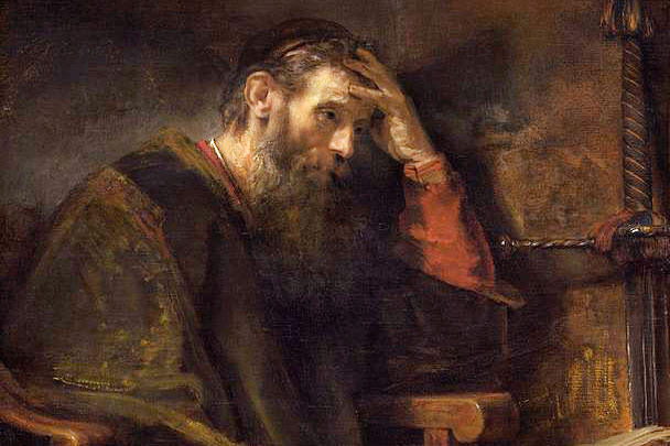 The Apostle Paul, Rembrandt van Rijn, 1657, via The National Gallery of Art