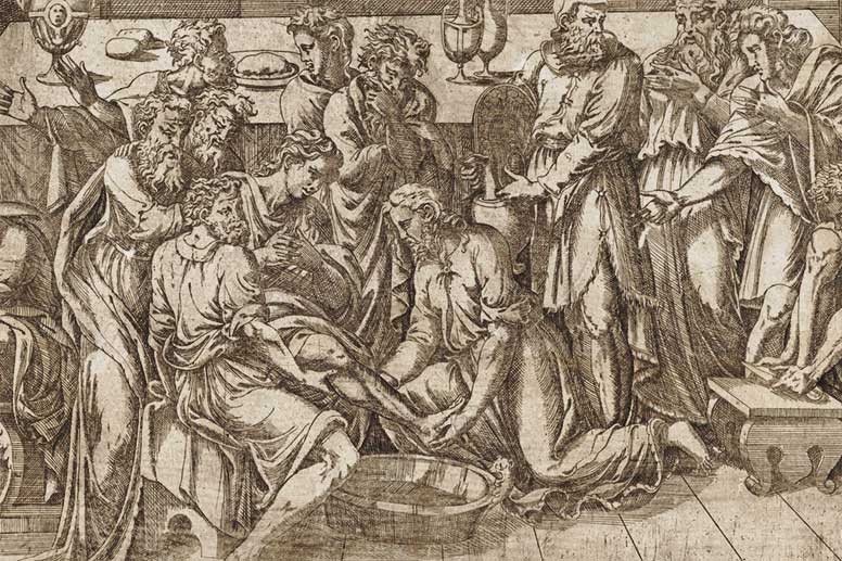 Detail from Jesus Washing the Feet of the Disciples by Antonio Fantuzzi
