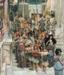 "Lawrence Alma-Tadema, ""Spring"" (detail)"