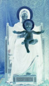 """Virgin and Child"", William Bouguereau (inverted)"