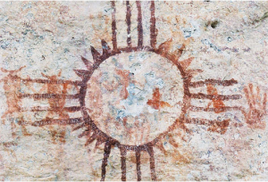 Historic pictograph at Meyer's Spring, Texas