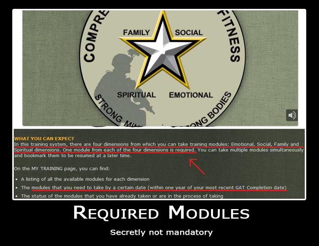 Army's Mandatory Spiritual Fitness Training Motivational