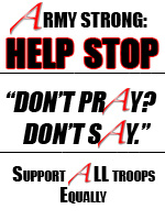 """Help stop """"Don't Pray? Don't Say!"""" - Support All Troops Equally"""