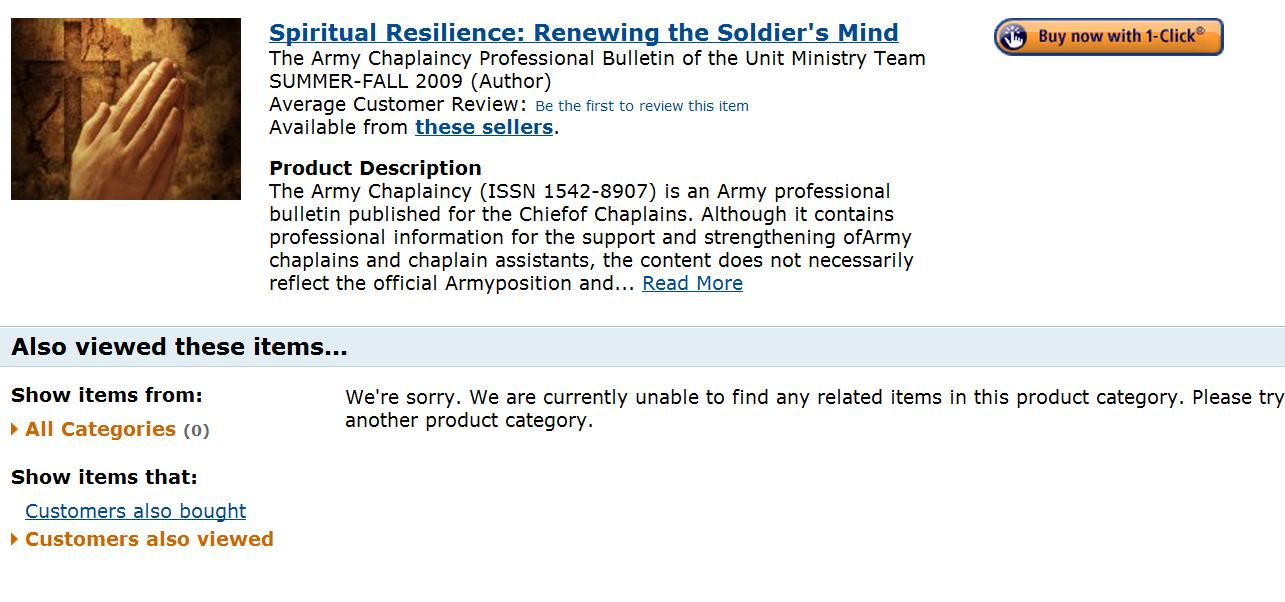 Spiritual Resilience renewing soldiers mind