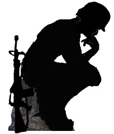 Military Atheist Thinking Soldier, scholar statue