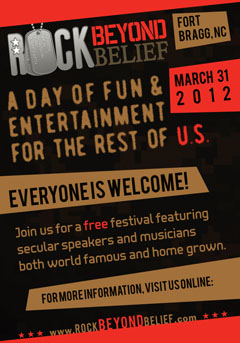 March 31st 2012 is Rock Beyond Belief's official date!