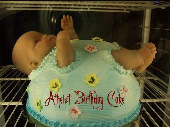 Atheist Birthday Cake