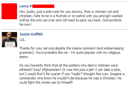 Only-christians-survive-in-a-foxhole-facepalm