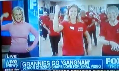 FOXNews Gretchen Carlson attempts gangnam style with senior citizens