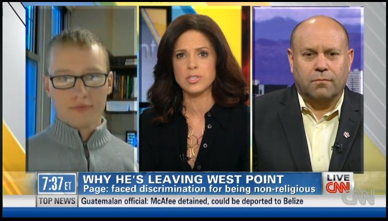 Cadet Page atheist at West Point CNN