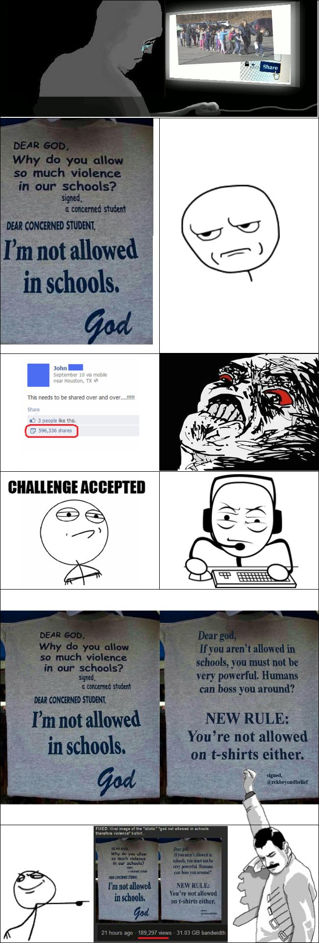 rage comic god not allowed in schools which explains shootings