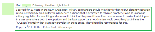 good foxnews comment - they should be reprimanded for this