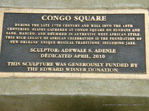 Congo Square Plaque photo by Lilith Dorsey. All rights reserved.