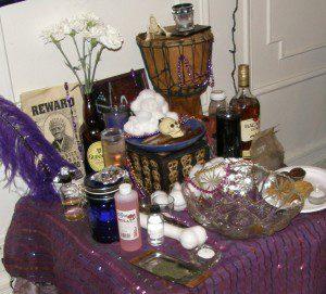 Maman Brigitte Feast Altar
