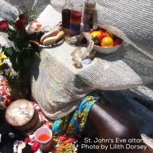 St John's eve altar, part of annual offerings in Voodoo. Photo by Lilith Dorsey