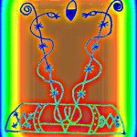 Veve Drawing for Damballa and Aida Wedo, image by Lilith Dorsey, all rights reserved.