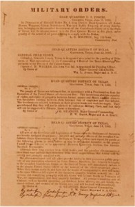 Juneteenth General Orders by Mike Licht. Licensed under CC 2.0