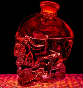 Crystal head vodka bottle photo by Chris Parmeter. Licensed under CC 2.0