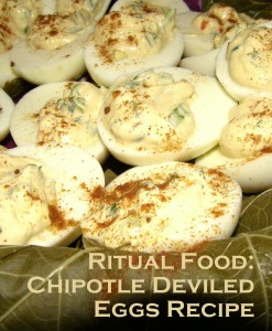 Deviled eggs for ritual photo by Lilith Dorsey. Copyright 2010.