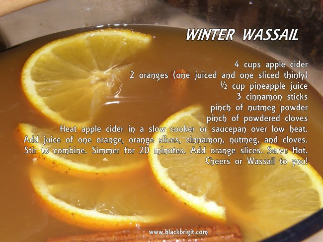 Winter Wassail Recipe photo by Lilith Dorsey. All rights reserved.