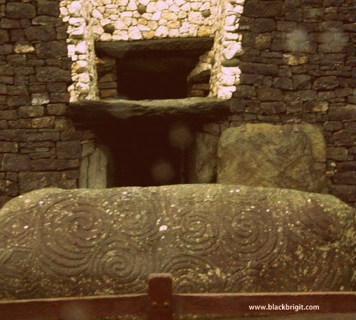 Entrance to Newgrange, Boyne Valley, Ireland. Photo by Lilith Dorsey, all rights reserved.