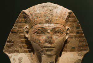 Sphinx with face of Hatshepsut photo courtesy of Shutterstock. All rights reserved.