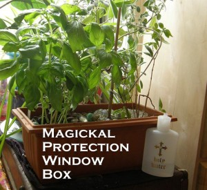 Magickal Protection Window Box photo by Lilith Dorsey. All rights reserved.