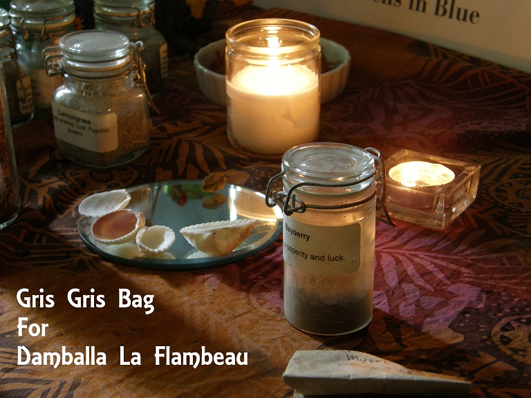 Gris Gris Bag for Damballa La Flambeau. photo by Lilith Dorsey. All rights reserved