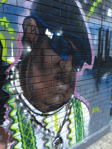 Mural of Notorious B.I.G. in Bedford Stuyvesant, Brooklyn. Photo by Lilith Dorsey. All rights reserved.