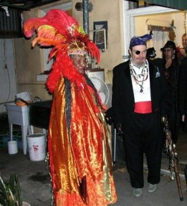 Priestess Miriam and Dr. John at the back of the Voodoo Spiritual Temple and Cultural Center 2010. Photo courtesy of Lacrimae Mundi. All rights reserved.
