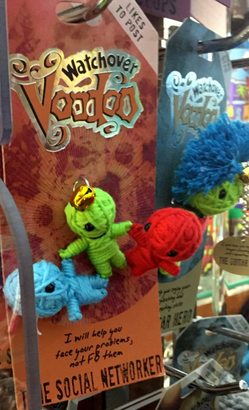 Voodoo Dolls on sale at the airport in New Orleans. Photo by Lilith Dorsey, all rights reserved.
