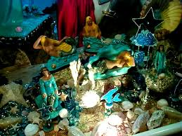 Yemanja altar photo courtesy of wikimedia.