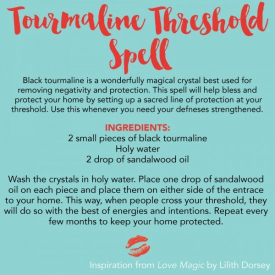 Tourmaline Threshold Spell from Love Magic. All rights reserved.