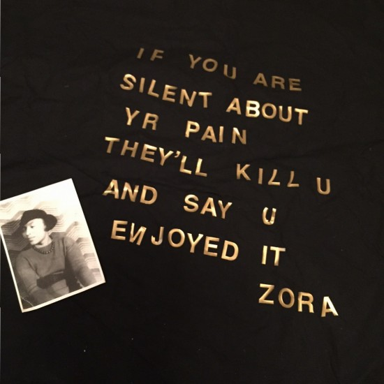 Zora Neale Hurston protest sign photo by Lilith Dorsey. All rights reserved.