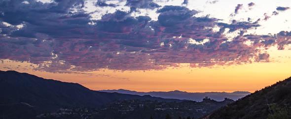 Sunset over Tujunga