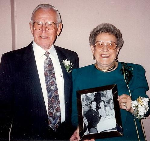 My Dad and Mom, John and Sylvia McColman, at their 50th Anniversary Celebration, 1995. Photo by Don McColman